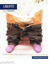 PUBLICITE ADVERTISING 056  2004   Liberto  jeans pour homme