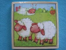 3 Houten puzzeltjes - Boerderij - 3 x 25st - 3 Puzzles en bois - la ferme Neuf