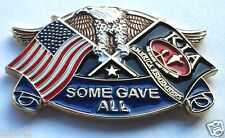 AMERICA REMEMBERS KIA EAGLE & FLAGS Military Veteran  Hero Hat Pin P12601 EE