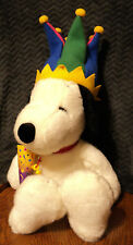"""Macy's Snoopy Jester Plush 24"""" with Hat & Party Horn"""
