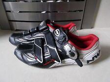 NORTHWAVE TYPHOON EVO SBS Nero Bianco Rosso Carbonio Suola Bicicletta Scarpe EU 40 UK 6.5