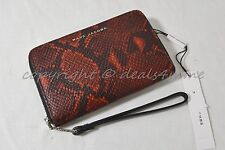 MARC By Marc Jacobs M0008273 Wallet/Wristlet in Red Snake Embossed & Black Strap
