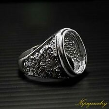 Ring Setting Sterling Silver 11x15mm.Oval Cab.size 9.5