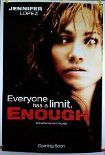 Enough 2002 Original Movie Poster 27x40 Rolled, Double-Sided (Jennifer Lopez)