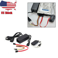 """USB 2.0 to SATA IDE 2.5"""" 3.5"""" External Adapter Transfer Cable Kit DVD Hard Disk#"""
