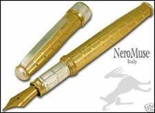 Eye Catching Fountain Pen AZTEC GOLD Stylo Solid Silver New Trend
