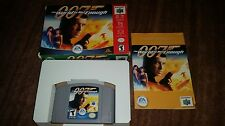 007 THE WORLD IS NOT ENOUGH NINTENDO 64 N64 EXMT COMPLETE IN BOX!