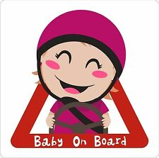 Baby On Board Girl Exterior Bumper Window Sticker Decal Graphic Vinyl Label