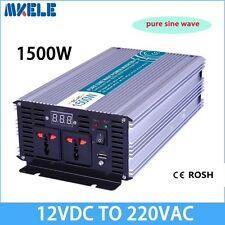 1500W DC12V to AC220V Pure Sine Wave Off grid Power Inverter LED Display