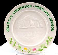 "BELLEEK IRELAND BCIS PORTLAND OREGON MT HOOD 7 1/2"" CONVENTION PLATE 2003"