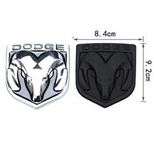 New ABS Black Hood Head Grill Tailgate Trunk Emblem Badge For Dodge Ram 92*84mm