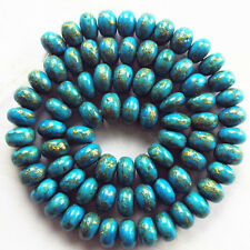 R0039130 Beautiful Copper Turquoise Rondelle loose bead 15.5 inch