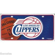 LOS ANGELES LA CLIPPERS TEAM LOGO NBA BASKETBALL METAL LICENSE PLATE MADE IN USA