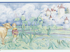 FairyTales Jack and the Bean Stalk Castle Cloud Childs Boy Wall Wallpaper Border