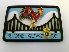 LIONS CLUB RHODE ISLAND COLLECTIBLE PIN PLATE JEWELRY ROOSTER BRIDGE