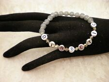 Handmade Gray DIABETIC ID ALERT AWARENESS Bracelet/Jewelry/ DO ALL SIZES
