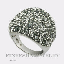 Authentic Chelsea Taylor Silver Black Hematite Crystal Size 7 Ring R452