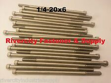 (1) 1/4-20x6 Socket Allen Head Cap Screw Stainless Steel 1/4 x 6""