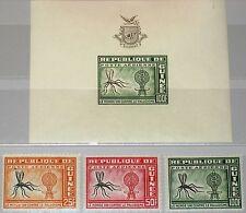 Guinea 1962 102-04 blocco 1 c29-31 Mosquito & malaria sconfortante who medicine **