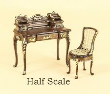 "Bespaq Dollhouse Mini 1/2"" SCALE ""ANASTASIA"" WRITING DESK/CHAIR S8043-44-NWNG"