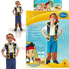 Jake and the Neverland Pirates Boys Costume S:4-6 FREE TATOOS TELESCOPE LICENSED