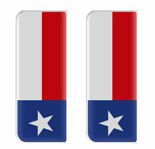 2x Texas Completo Bandera-Gel semicirculares de matrícula badges/decals 107x42mm