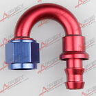 10AN -10AN 180 DEGREE Push-on hose end fitting adaptor fuel oil line PHD-180D-10