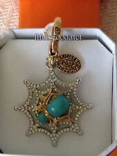BRAND NEW! JUICY COUTURE GLOW IN THE DARK SPIDER BRACELET CHARM IN TAGGED BOX