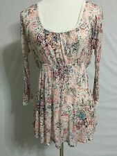 NEW! Free People Waist Band Floral Top Tunic  Size S 4-6