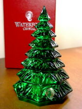 Waterford Crystal Green CHRISTMAS TREE SCULPTURE - NEW / BOX!