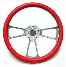"Harley Davidson Golf Cart 14"" Red Steering Wheel Includes Horn & Adapter"
