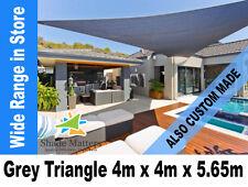 New Extra Heavy Duty Right Angle Triangle Shade Sail 4m x 4m x 5.65m Grey