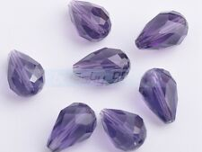 Teardrop Faceted Crystal Glass Loose Beads 5x3mm 7x5mm 12x8mm 14x10mm 18x12mm