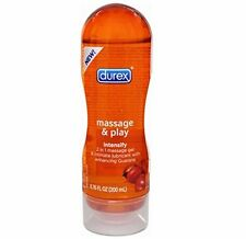 Durex 2in1 Massage and Play Intensify-Guarana Water Based Sex Lubricant, 6.76 Oz