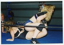 Sit Hold Sexy Girl Wrestlers in Ring Vintage 1997 Photo Women Wrestling