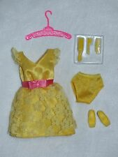 Barbie Becky Prototype Vintage Repro Yellow MOD Party Dress New Free U.S Ship