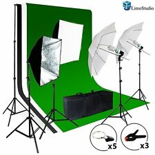 LimoStudio Photo Video Studio Light Kit w Chromakey Studio Background #AGG1388