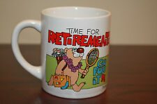 Funny Time For Retirement Coffee Mug Bear on Vacation Tennis Golf B18