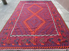 Kilim Old Traditional Hand Made Afghan Oriental Large Kilim Red Wool 358x240cm