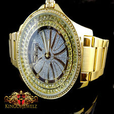 NEW MEN REAL DIAMOND KING MASTER JOJINO JOJO JAPAN MOVEMENT G/P METAL BAND WATCH