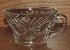 "NM VINTAGE 1941-70's ANCHOR HOCKING PRESCUT ""OATMEAL"" HANDLED TEA CUP"