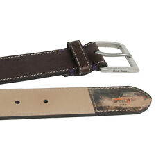 Genuine Paul Smith Leather Belt/Multi Stripe Mini Rufford Park/Size: 30''/BNWT