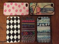 LOT OF 5! NEW Hard Plastic Back Skin Cover Cases For IPHONE 4/4S.