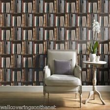 Bookcase, Library, Books, Shelves Designer  Wallpaper, printed on a flat paper