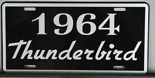 METAL LICENSE PLATE 1964 64 THUNDERBIRD T-BIRD 390 428 FORD CONVERTIBLE ROADSTER