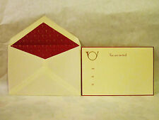 Ten Crane & Company French Horn Invitations and Envelopes - New