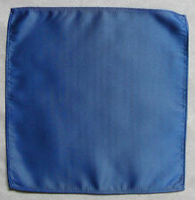 "NEW MENS TOP POCKET HANKIE HANDKERCHIEF SHIMMERY ROYAL BLUE MOD 10"" X 10"""