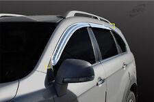 SAFE Chrome weathershields 4p for 06/2006 ~ 2015 Holden Captiva 5 Series I & II