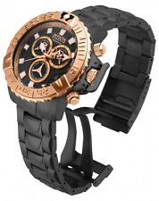 New Mens Invicta 18238 Reserve Chronograph Rose Gold Tone Steel Bracelet Watch