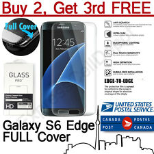 Premium 3D Full Cover Tempered Glass Screen Protector for Samsung Galaxy S6 Edge